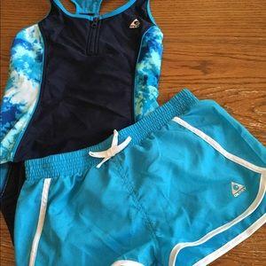 Girls Gerry 2 Pc Swimsuit Set Blue